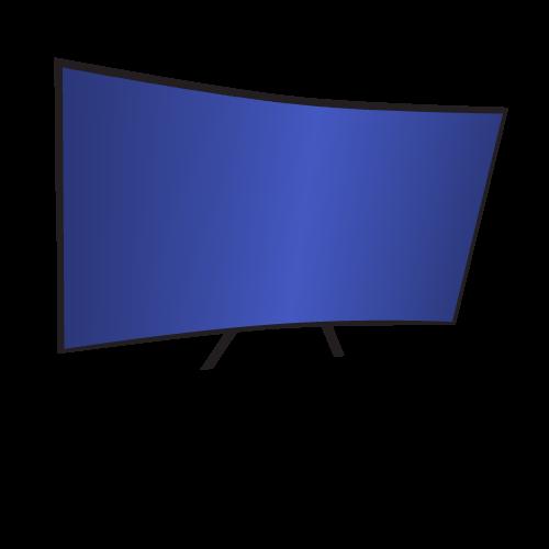 Televizor smart cu ecran curbat